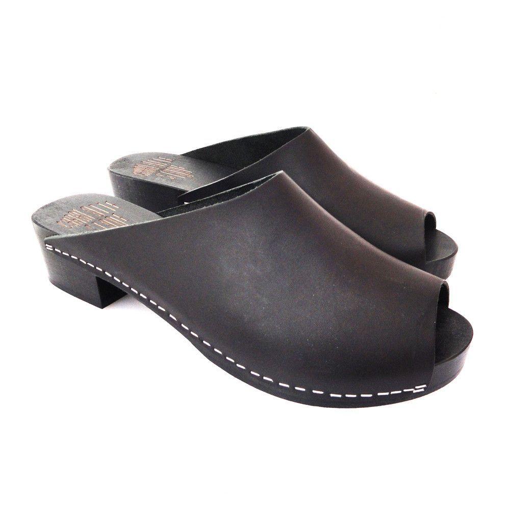 Delma clog mules in black