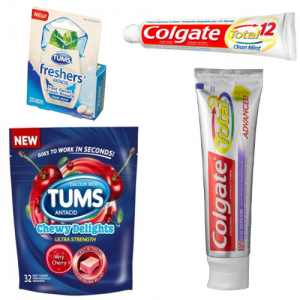 Free Samples Colgate and Tums Colgate toothpaste