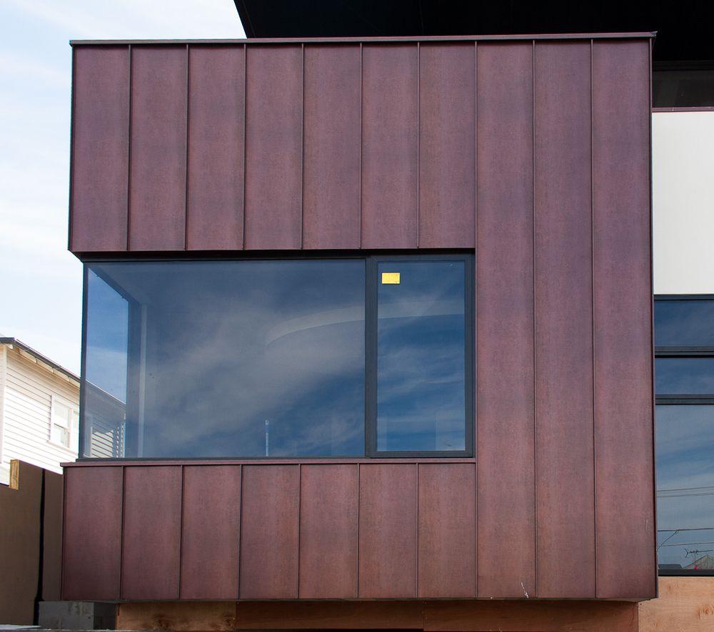 Cor Tan Metal Siding Residential Google Search Exterior Wall Cladding Exterior Cladding House Cladding