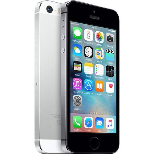 073e4f9e5 iPhone 5S 32GB Cinza Espacial Desbloqueado IOS 8 4G + Wi-Fi Câmera 8MP-