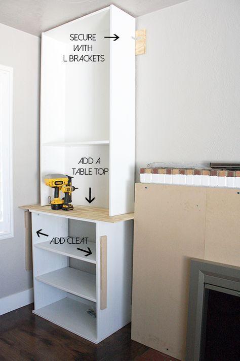 Ikea Hack Built Ins Fireplace Bookcase Billy Crane Concept Diy Blog Blogger