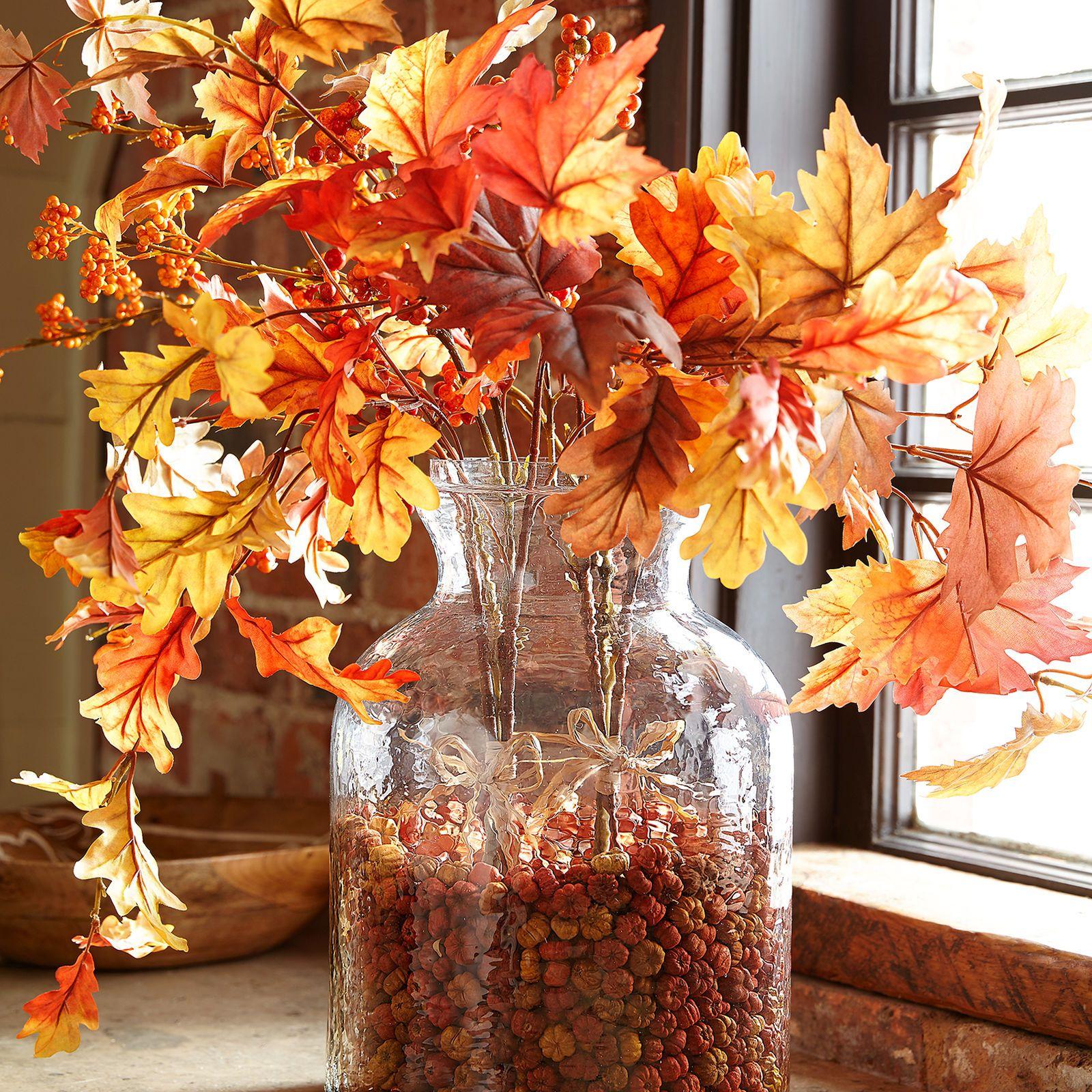 Faux Maple Leaf & Berry Bundle