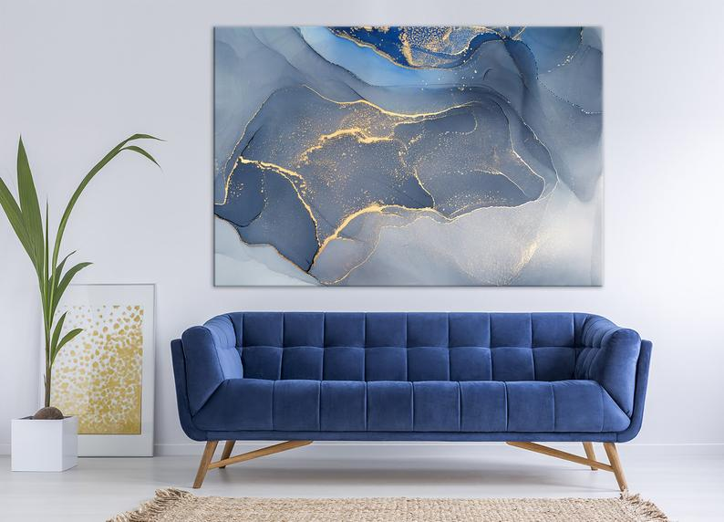 Pin On Bedroom Ideas #navy #blue #wall #decor #for #living #room