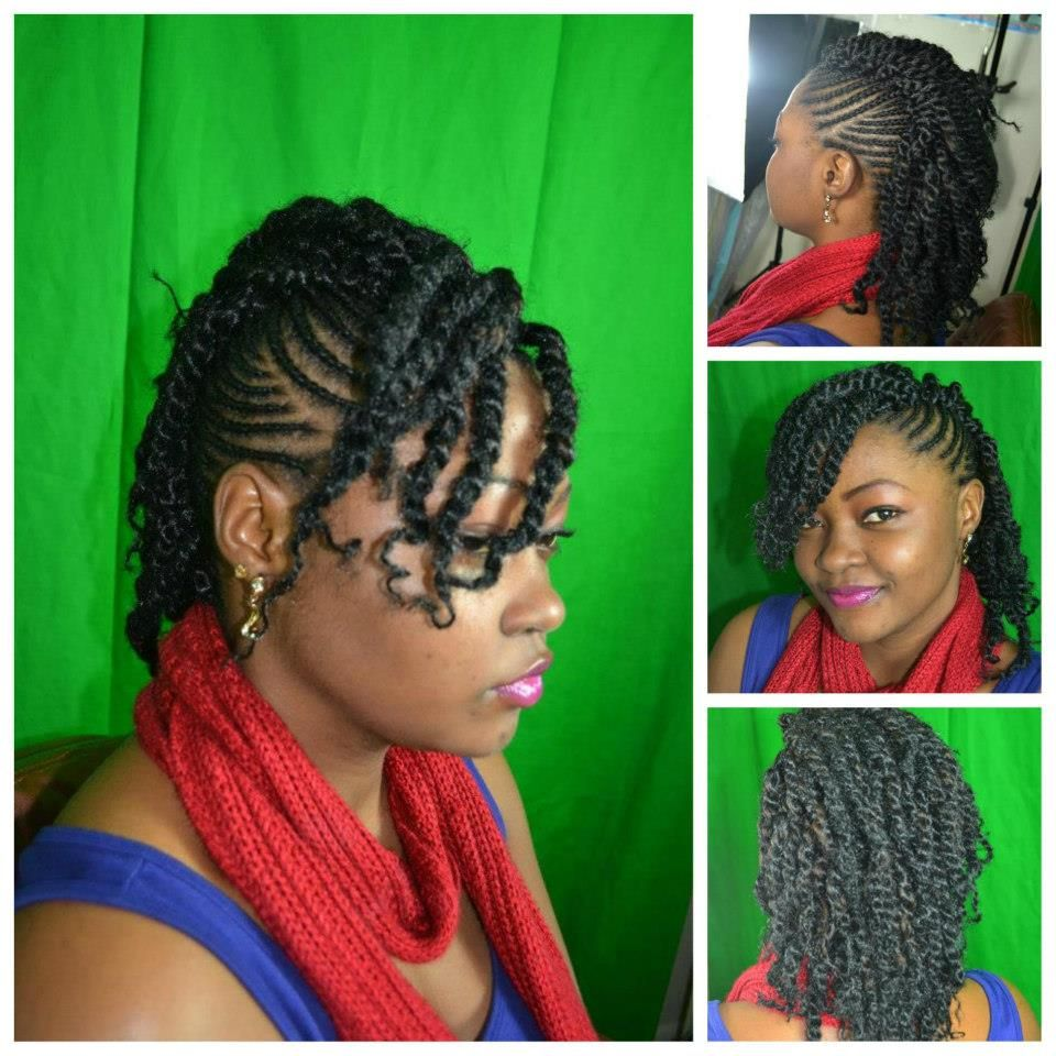 Cute Natural Hair Twist Updo Natural Hair Twists Hair Styles Natural Hair Styles