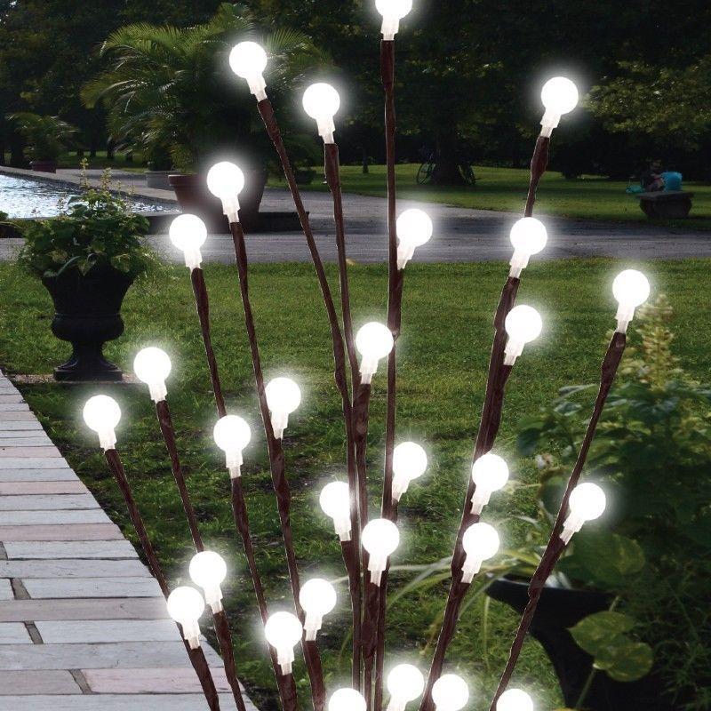 2 x 60cm garden led twig lights solar tree lights decor lighting