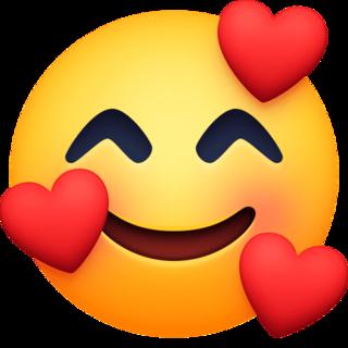 Smiling Face With Hearts Emoji On Facebook 4 0 Heart Emoji Smile Face Emoji