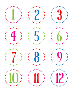 picture regarding Printable Numbers named No cost printable quantity stickers (1-24) / christina william