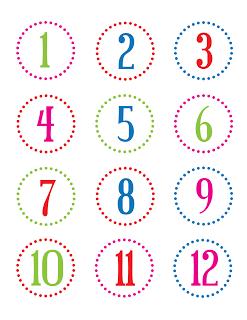 FREE printable number stickers (1-24) / christina william | FREE ...
