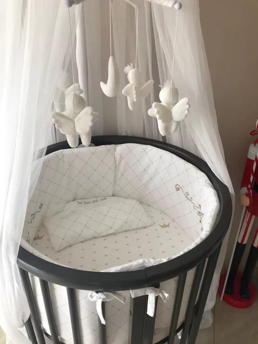 Baby Cot Crib Bed Baby Cot Bedding Round Crib Nursery Round