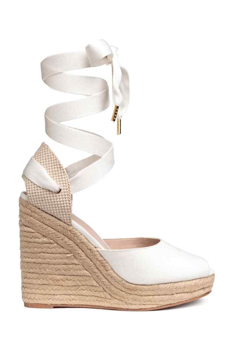 ac01ece4c7d5 Espadrilles à talon compensé | Chaussures | Chaussure espadrille ...
