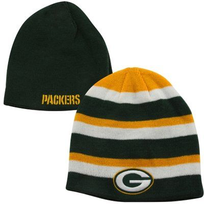 47 Brand Green Bay Packers Iconic Reversible Cuffless Knit Hat Green White Gold Green Bay Packers Hat Packers Hat Hats