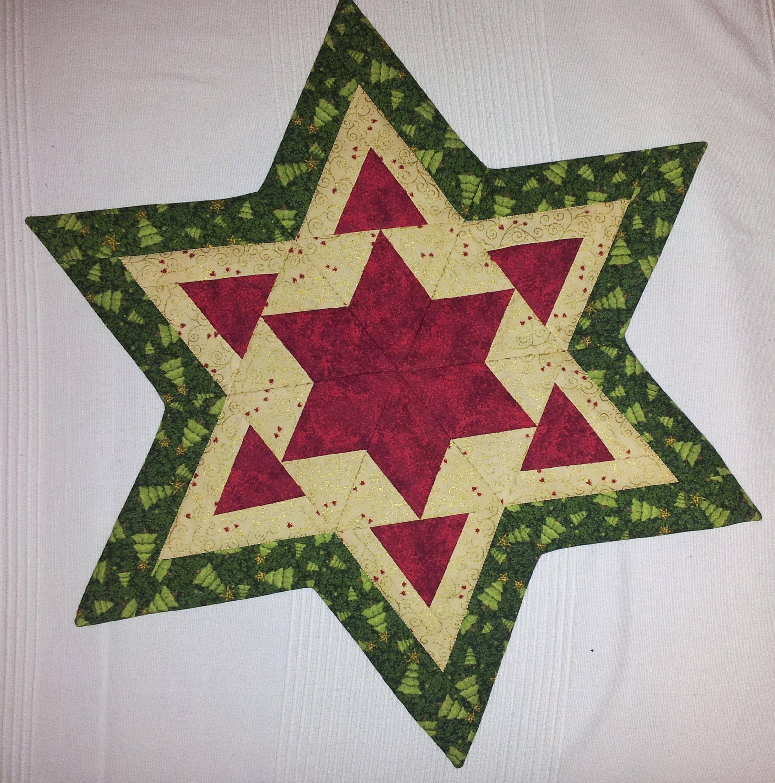 Patchwork Deckchen Weihnachten Stern Weihnachten Patchwork Nahen Weihnachten Patchworkdecke