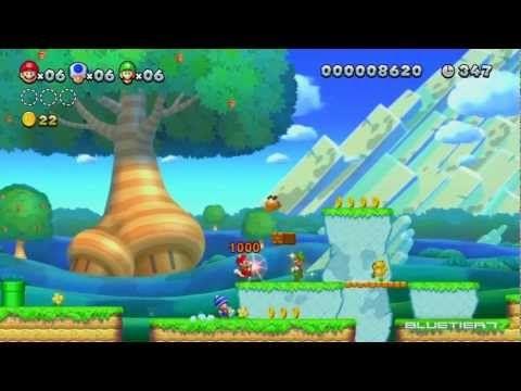 New Super Mario Bros U Co Op Acorn Plains 1 Acorn Plains