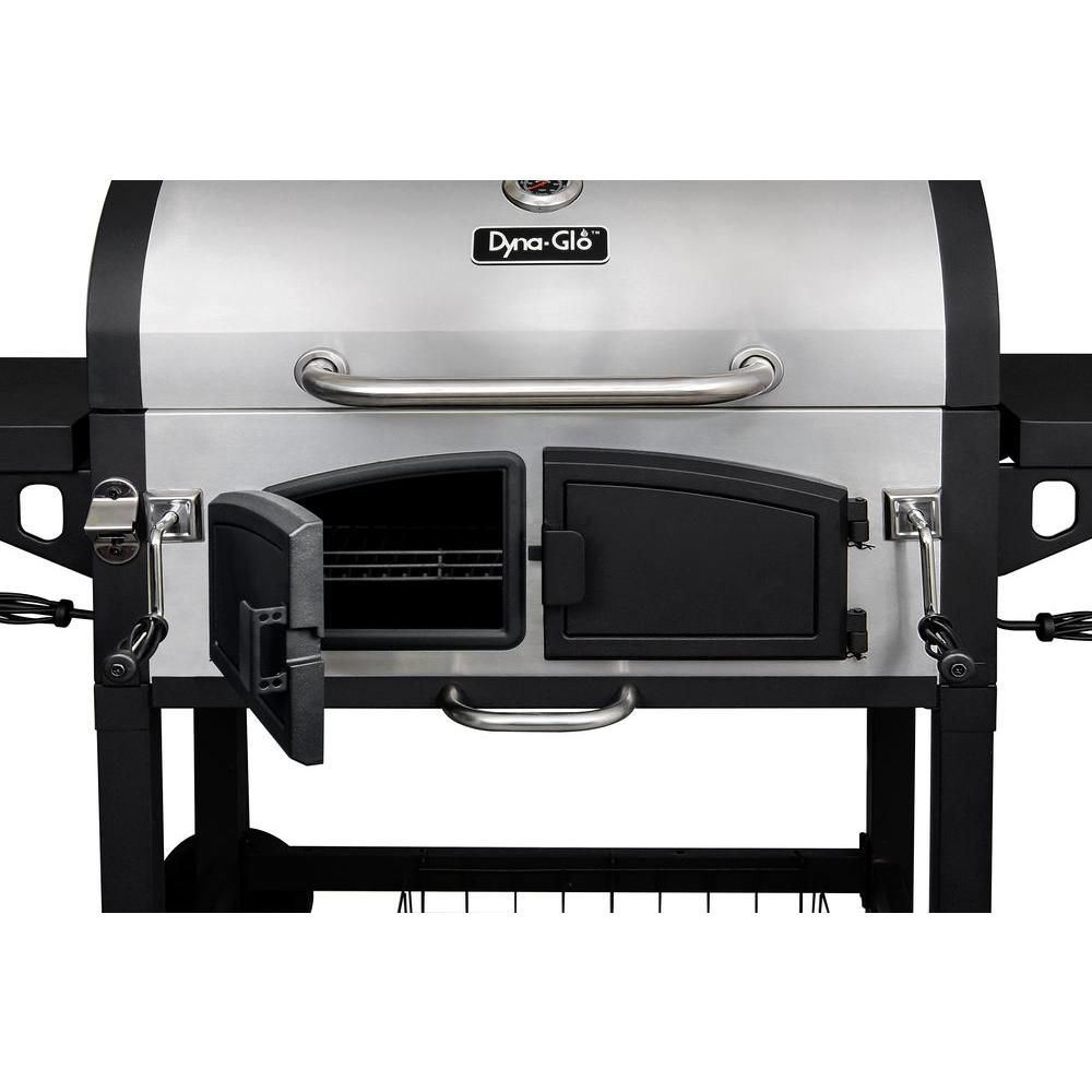 Dyna Glo Dual Zone Premium Charcoal Grill Dgn576snc D The Home Depot