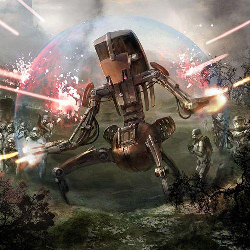 Droideka Star Wars Painting Star Wars Art Star Wars Artwork