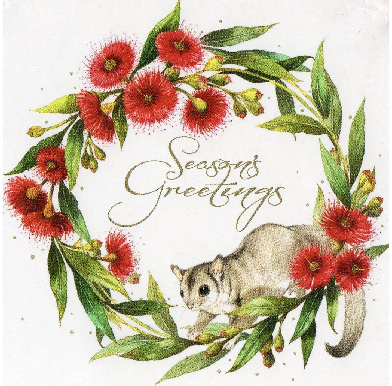 Australian charity Christmas card, Sugar glider, ArtWrap