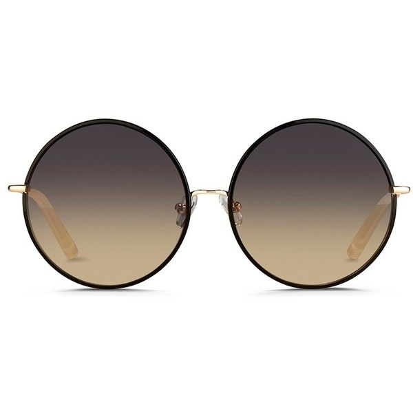 a83addba3a Matthew Williamson Contrast wire rim oversize round sunglasses ( 340) ❤  liked on Polyvore featuring accessories