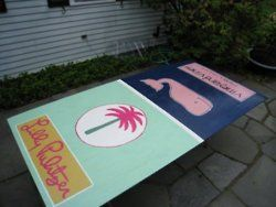 Painted Ping Pong Table Cute For College House