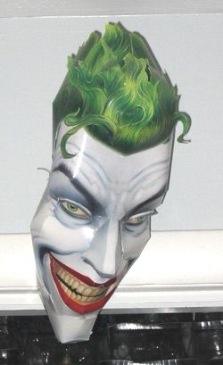 This Paper Craft Joker Mask Is Part Of A Set Of 9 Masks Which Must Be Purchased The Book Can Be Found Here Http Www Ama Joker Mask Paper Crafts Mask Design