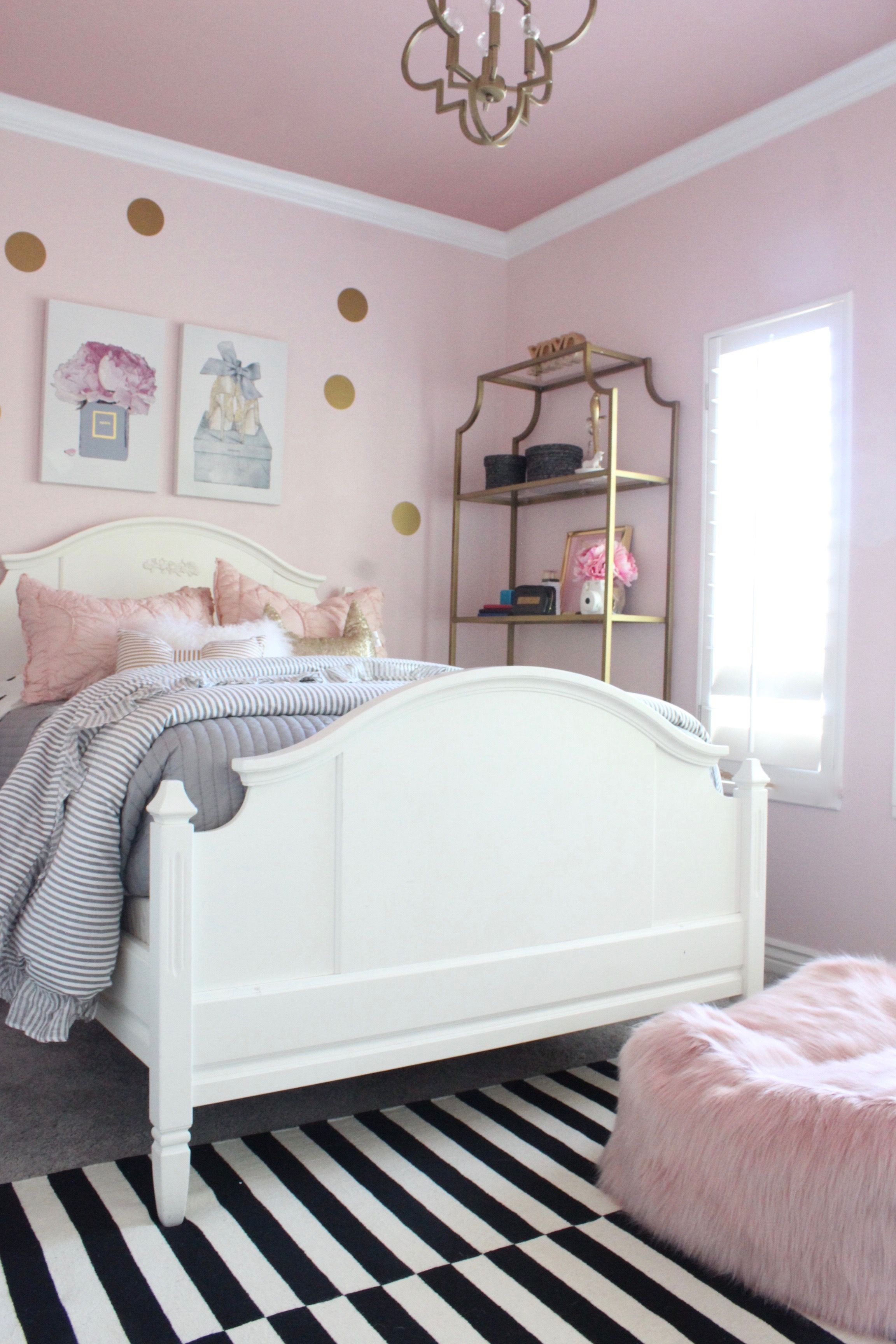 Blush Rose And Gold Tween Bedroom Ideas Pink Bedroom Decor Tween Bedroom Decor Bedroom Themes