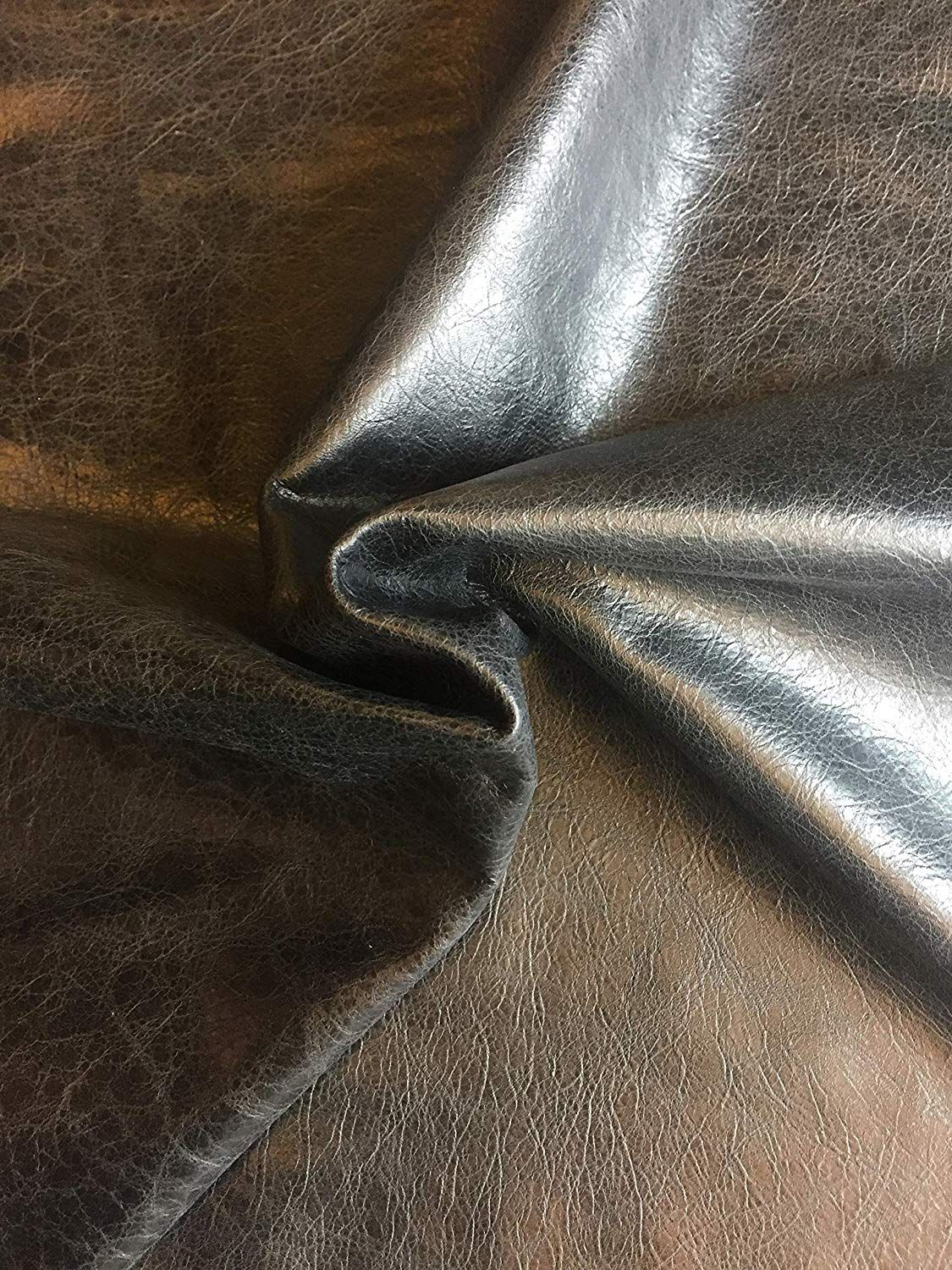 Black Leather Hide Spanish Full Skin Rustic Finish 2 Oz Avg Thickness Soft Upholstery Fabric Genuine Thi Leather Decor Leather Decor Diy Fabric Decor