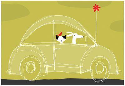 dog-cat-bird-in-car.jpg (400×275)