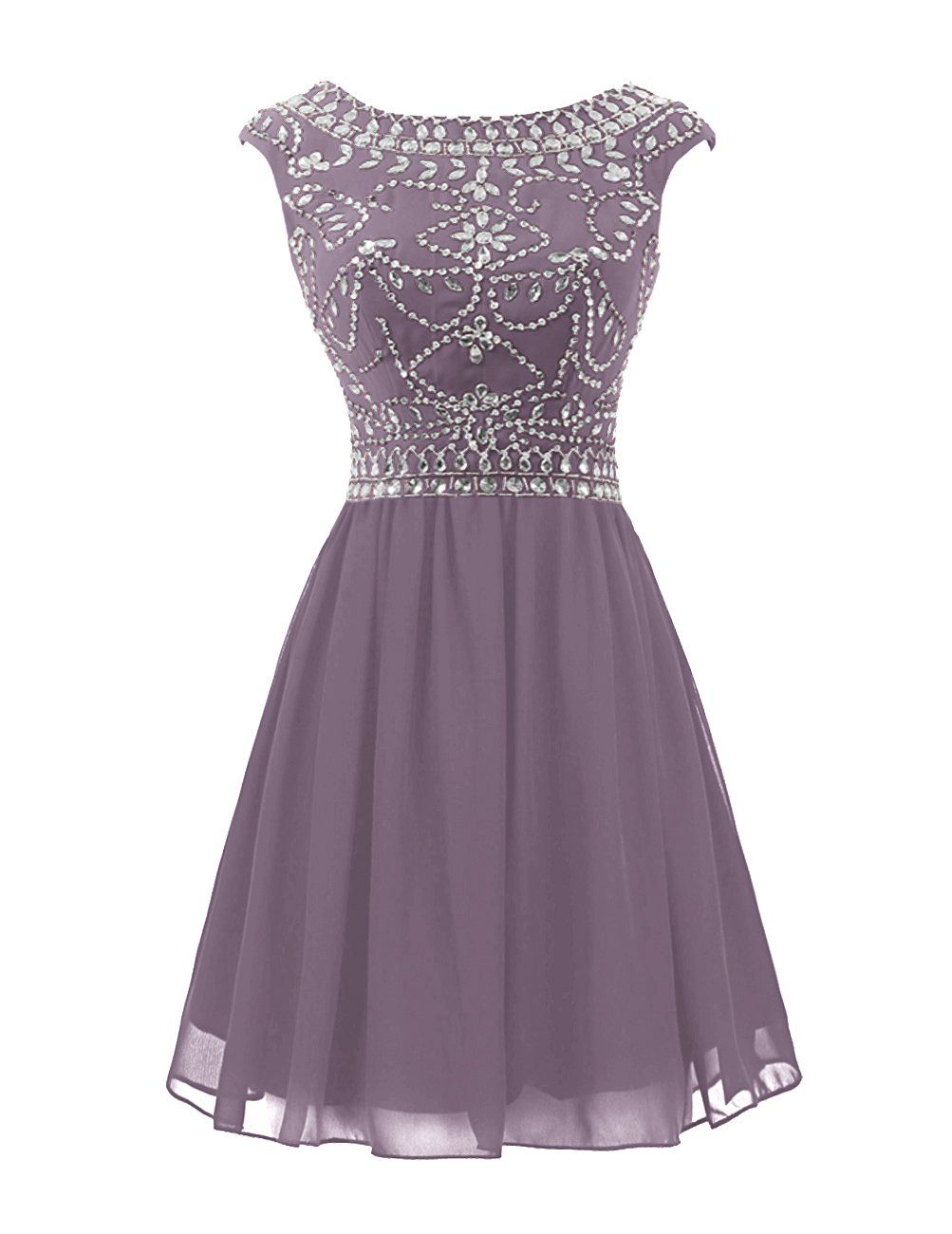 Amazon wedtrend womenus short prom dress with beads chiffon
