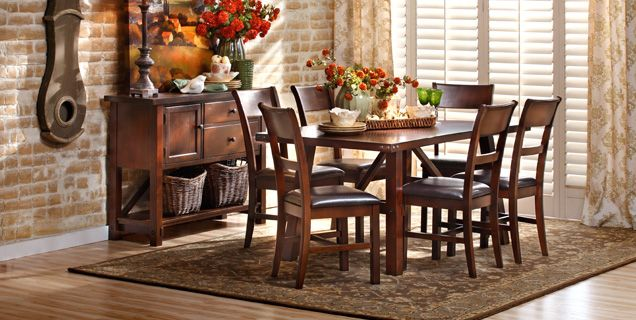 Clean Lines With A Stylish Edge: The Paladin Dining Table From Oak Express    Http://www.furniturerow.com/OakExpress/Paladin Dining Group /prod1230117/  # ...