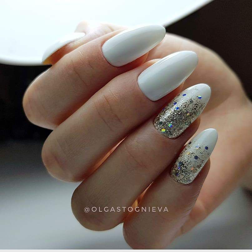 22 Pretty Nail Art Ideas - glitter nails , acrylic nail art design #nail #nailart #nails #manicure