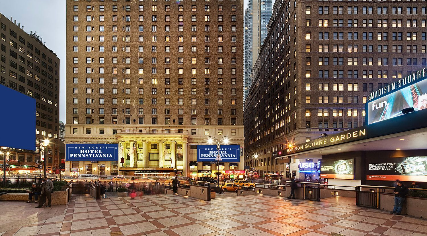 New York S Hotel Pennsylvania Is Located In The Heart Of Midtown