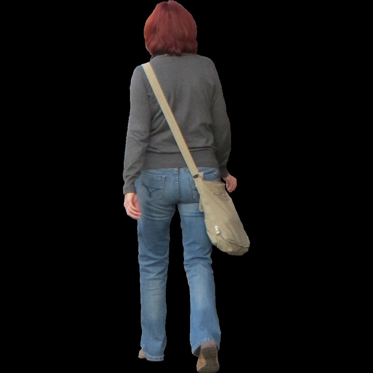 Woman Walking Away Arsitektur
