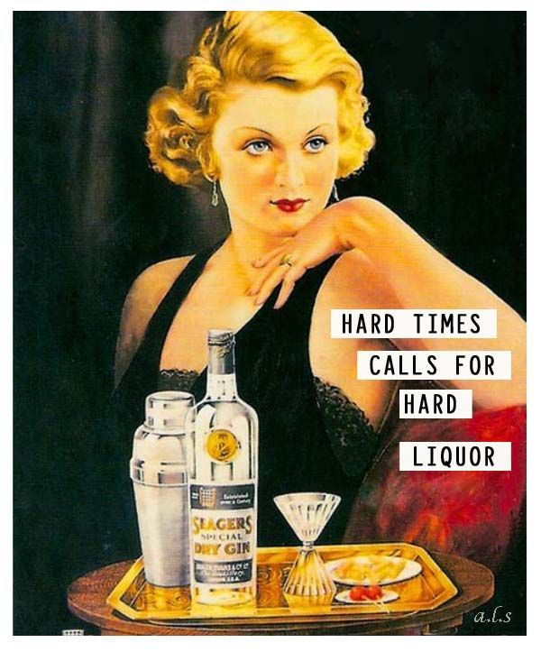 thats the spirit women in vintage cocktail ads bitchy