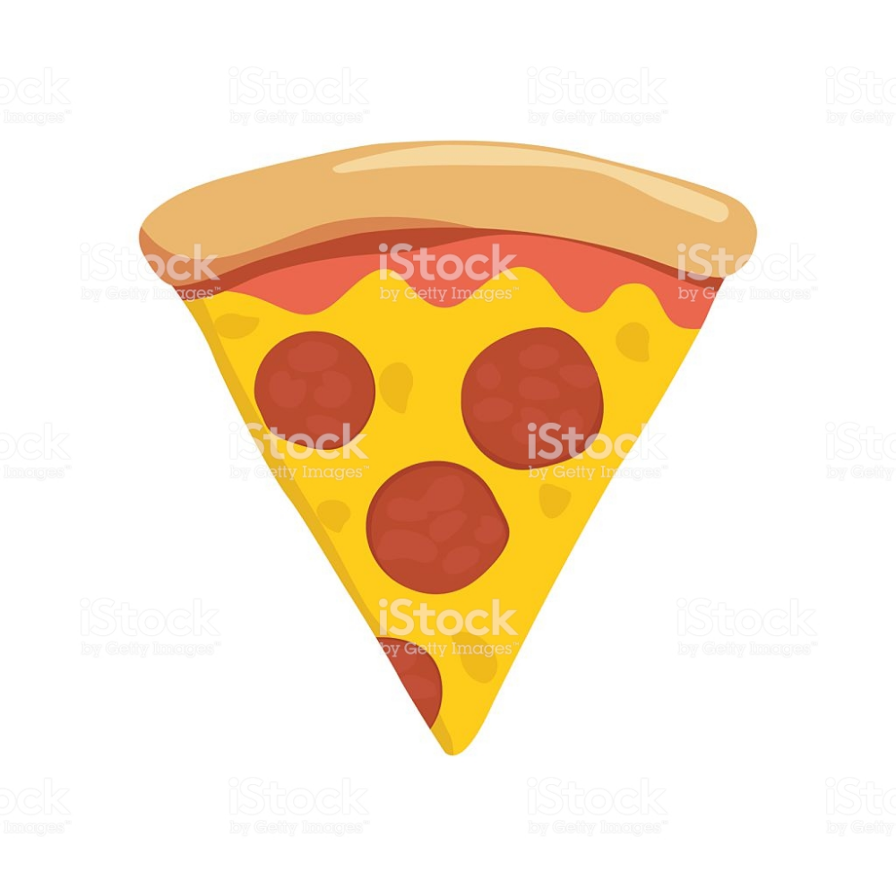 Slice Of Pepperoni Pizza On White Background Pizza Vector Free Vector Art Pepperoni Pizza