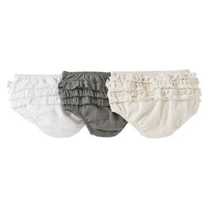 Burts Bees Baby™ Infant Girls' 3 Piece Ruffle Diaper Cover Set - Assorted