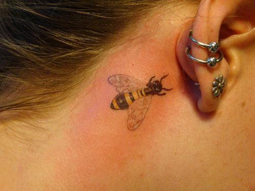 Bumble Bee Tattoo Behind Ear Bumble Bee Tattoo Bee Tattoo Small Tattoos