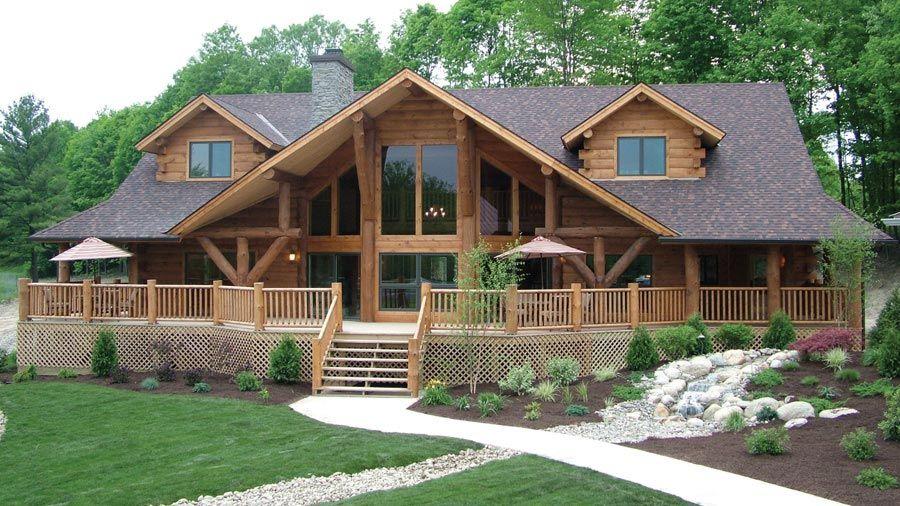 Awe Inspiring Log Home Design Plan And Kits For Big Sky Someday Log Beutiful Home Inspiration Xortanetmahrainfo