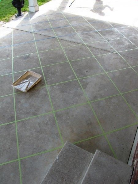 Back Patio Makeover Using Tape And