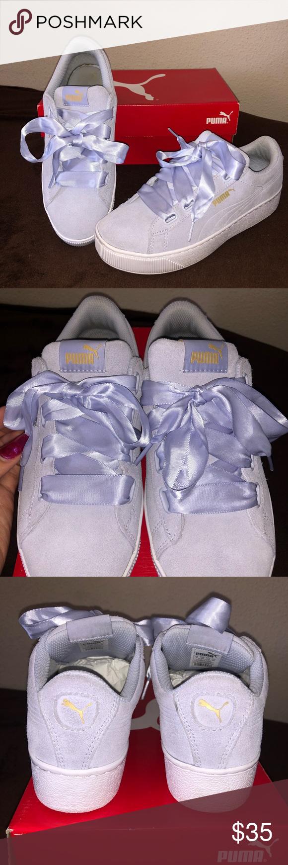 Puma Vikky Platform Ribbon Sneakers