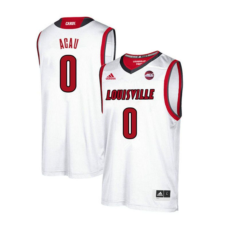 922b587b58f6 Men Louisville Cardinals  0 Akoy Agau College Basketball Jerseys Sale-White