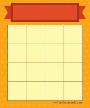 Myfreebingocards Com Free Printable And Virtual 4x4 Bingo Templates Bingo Template Bingo Card Template Bingo Cards