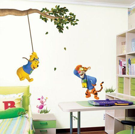 get winnie the pooh tigger children39s nursery wall With kitchen cabinets lowes with winnie the pooh quotes wall art