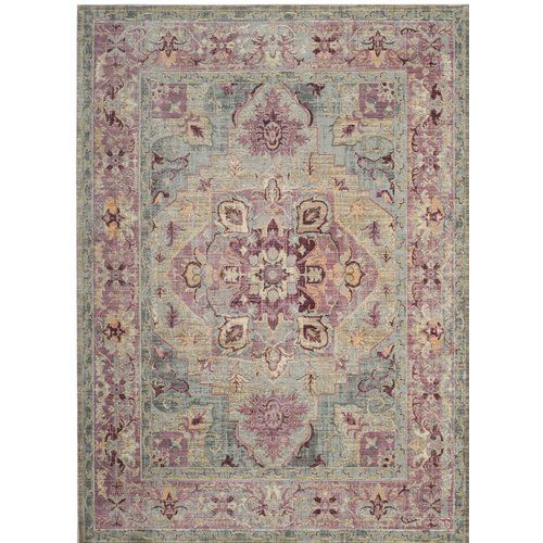 Norwood Oriental Grape Blue Area Rug Purple Area Rugs
