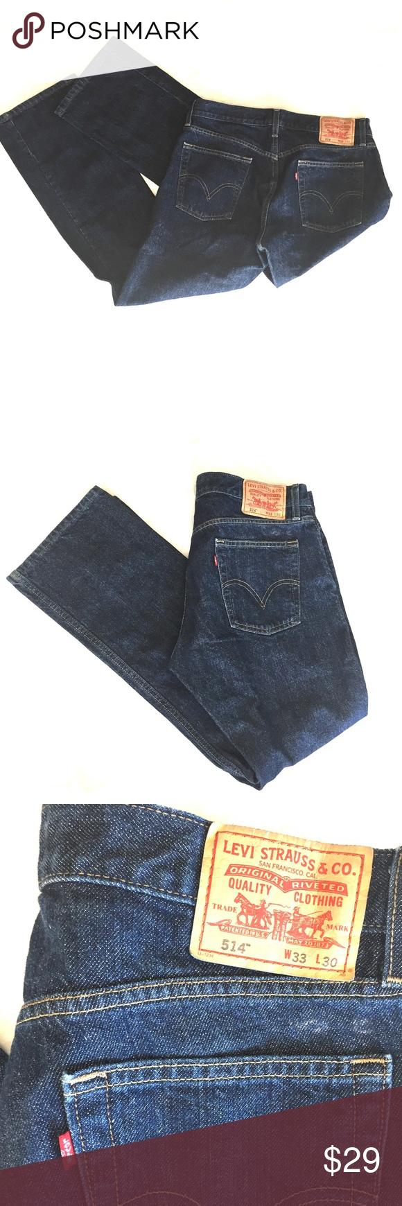 Levi's Men's 514 Slim Straight Jeans 33x30 👖 Levi's 514 Slim Straight in excellent condition.  Darker wash.  33X30 Levi's Jeans Slim Straight