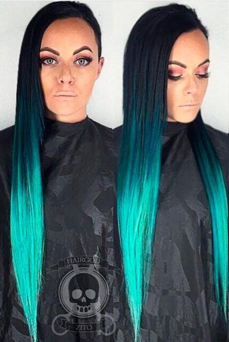 33 Trendy Styles For Blue Ombre Hair | Blue ombre hair, Brown ...