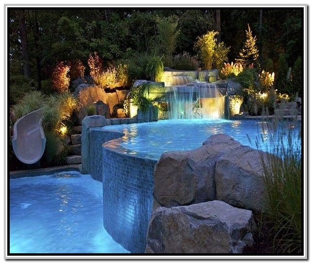Inground Swimming Pools Plans Kolam Renang Tropis Halaman Belakang Pool Spa