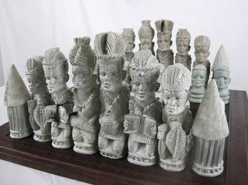 African Rhodesian Soapstone Chess Set