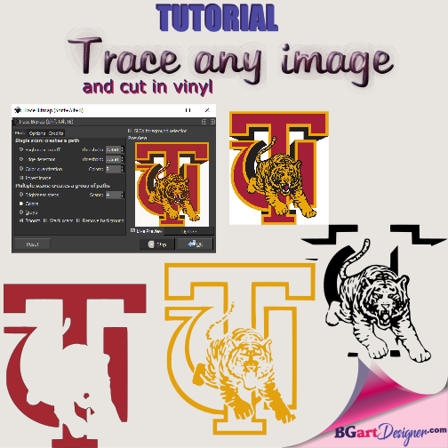 Create a SVG file & trace any image using Inkscape