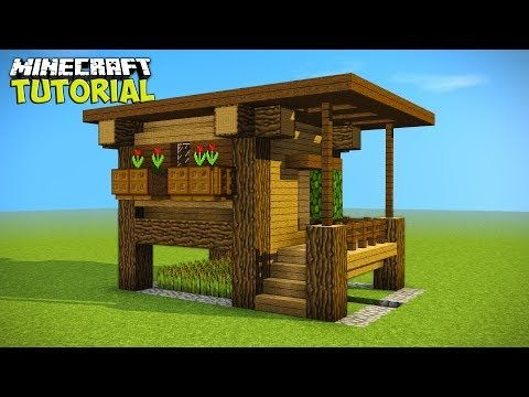 Minecraft Simple Easy Efficient Survival House Tutorial How To - Minecraft haus aus holz