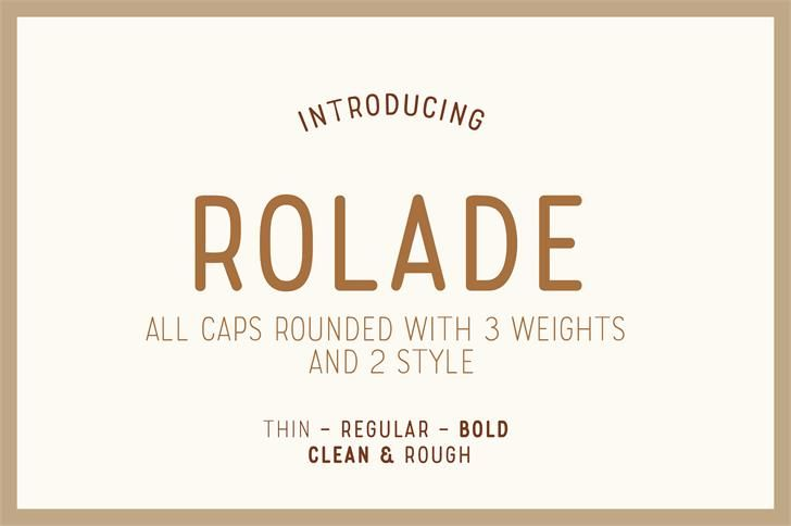 Rolade font by Alternatype