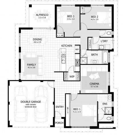 Floor Plans For 3 Bedroom 15m Width 198sqm Quite Large Home